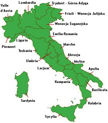 Kuchnia regionów Włoch