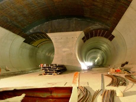 Sedrun Budowa tunelu Gotharda
