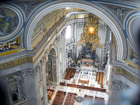 Bazylika Świętego Piotra w środku