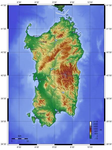 Sardynia Mapa